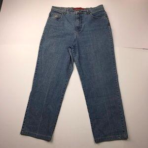 Gloria Vanderbilt Size 12 Denim Straight Jeans